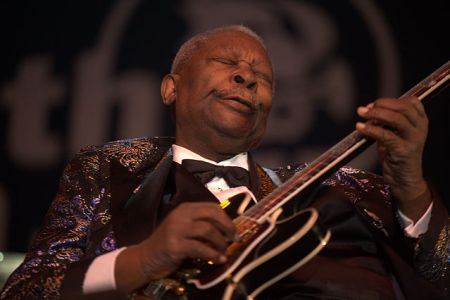 B.B. King at the North Sea Jazz Festival in Rotterdam, 2009 via Wikipedia Commons