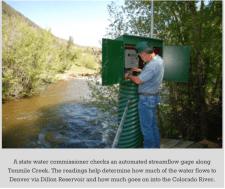 Stream gage Tenmile Creek -- Bob Berwyn