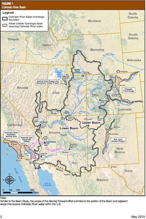 Colorado River Basin including Mexico, USBR May 2015