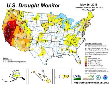 US Drought Monitor May 26, 2015