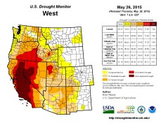 West Drought Monitor May 26, 2015