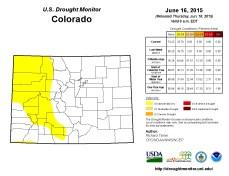 Colorado Drought Monitor June 16, 2015