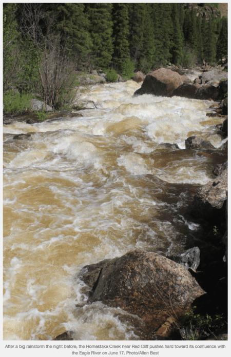 Eagle River June 17, 2015 via Allen Best