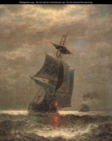 Evening, running through choppy waters image by James Gale Tyler -- Wikimedia