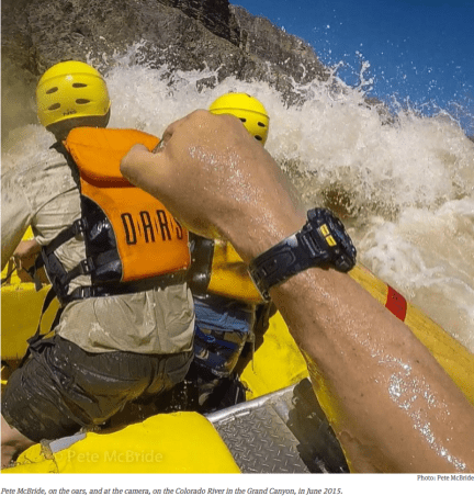 Peter McBride at the oars and camera Grand Canyon June 2015