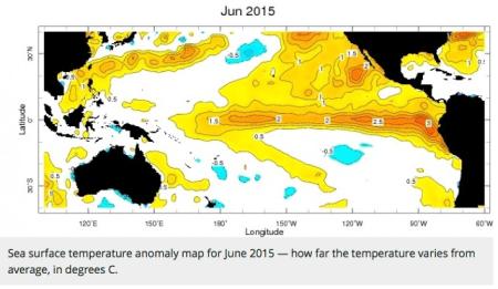 seasurfacetemperatureanomalymapjune2015stateoftheplanet