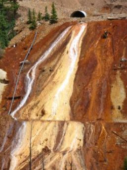 Acid mind drainage Cement Creek watershed