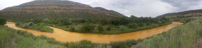 Animas River at the New Mexico/Colorado State line August, 2015.