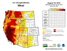 West Drought Monitor August 18, 2015