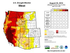 West Drought Monitor August 25, 2015