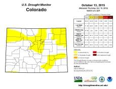 Colorado drought Monitor October 13, 2015