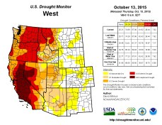 West Drought Monitor October 13, 2015