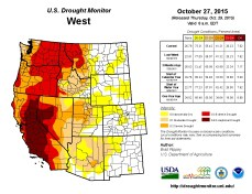 West Drought Monitor October 27, 2015