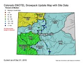 Statewide snowpack map December 1, 2015 via the NRCS