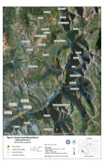 Location map for abandoned mine near Silverton. The Silver Wing is in the upper right corner of the aerial.