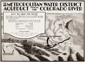 Why we need the water – pro-Colorado River Aqueduct bond map from the Metropolitan Water District of Southern California.