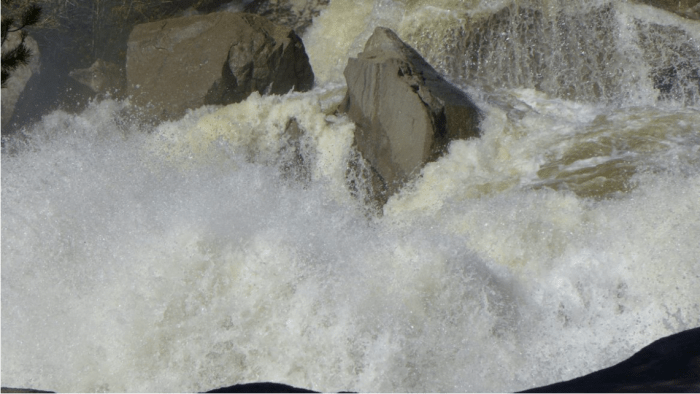 The Roaring Fork River bounding down the Grottos on Thursday, June 16, 2016, after the Twin Lakes Tunnel was closed. Photo Brent Gardner-Smith (Aspen Journalism).