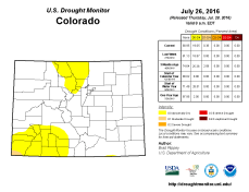 Colorado Drought Monitor July 26, 2016.