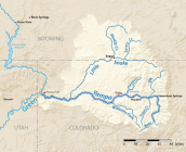 Yampa River Basin via Wikimedia.