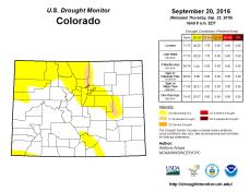 Colorado Drought Monitor September 20, 2016.