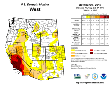 West Drought Monitor October 25, 2016.