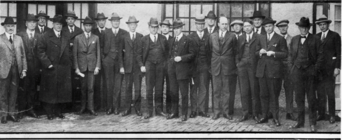 In 1922, Federal and State representatives met for the Colorado River Compact Commission in Santa Fe, New Mexico. Among the attendees were Arthur P. Davis, Director of Reclamation Service, and Herbert Hoover, who at the time, was the Secretary of Commerce. Photo taken November 24, 1922. USBR photo.