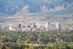 Colorado Springs with the Front Range in background. Photo credit Wikipedia.