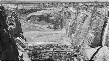 Glen Canyon Dam construction circa. 1961 via @USBR.
