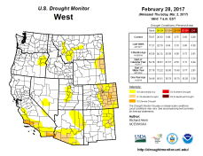 West Drought Monitor February 28, 2017.