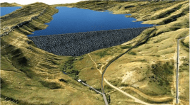 This graphic, provided by Northern Water, depicts Chimney Hollow Reservoir, located southwest of Loveland, after it is built.