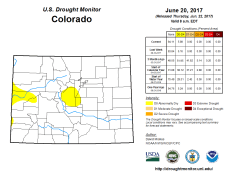 Colorado Drought Monitor June 20, 2017.