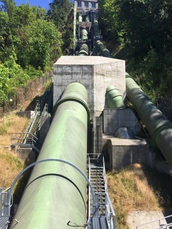 Snoqualmie Falls penstocks July 22, 2017.