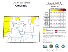 Colorado Drought Monitor August 22, 2017.