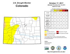 Colorado Drought Monitor October 17, 2017.