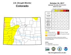 Colorado Drought Monitor October 24, 2017.