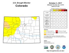 Colorado Drought Monitor October 3, 2017.