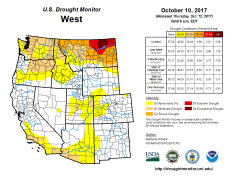 West Drought Monitor October 20, 2017.
