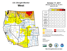 West Drought Monitor October 17, 2017.