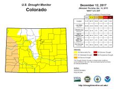 Colorado Drought Monitor December 14, 2017.