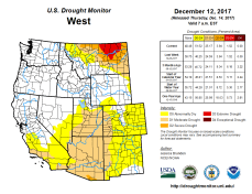 West Drought Monitor December 14, 2017.