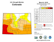 Colorado Drought Monitor March 6, 2018.