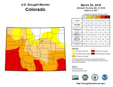 Colorado Drought Monitor March 20, 2018.