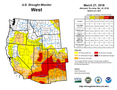 West Drought Monitor March 27. 2018.