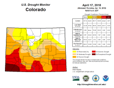 Colorado Drought Monitor April 17, 2018.