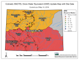 Statewide basin-filled snowpack map May 14, 2018 via the NRCS.