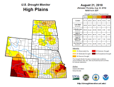 High Plains Drought Monitor August 21, 2018.