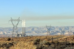 Navajo Generating Station and the cloud of smog with which it blankets the region. Photo credit: Jonathan Thompson via The High Country News