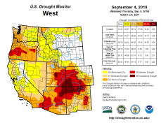 West Drought Monitor September 4, 2018.