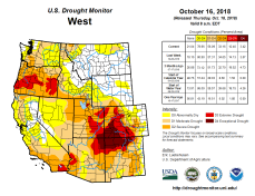 West Drought Monitor October 16 2018.