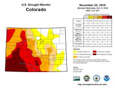 Colorado Drought Monitor November 20, 2018.